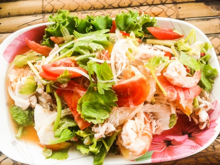 spicy mixed salad 写真素材