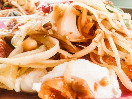slatternly: green papaya salad