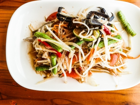 goi: spicy green papaya salad
