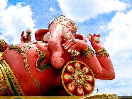 ganesh is biggest in the world, chachoengsao in thailand photo