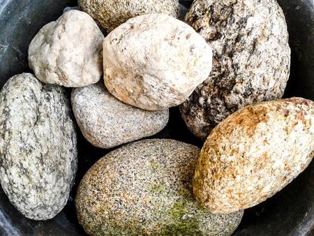 detritus: rock stone background Stock Photo