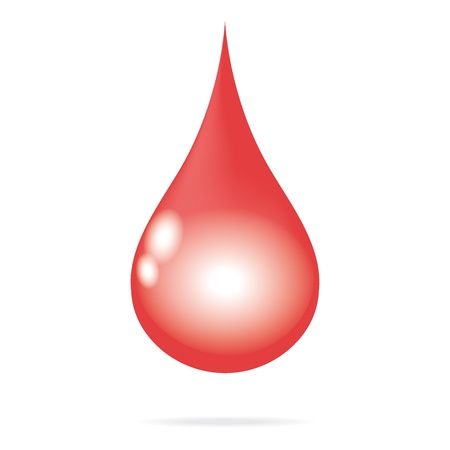red blood water drop Illustration