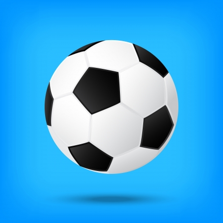 best soccer football illusion isolated background Vector