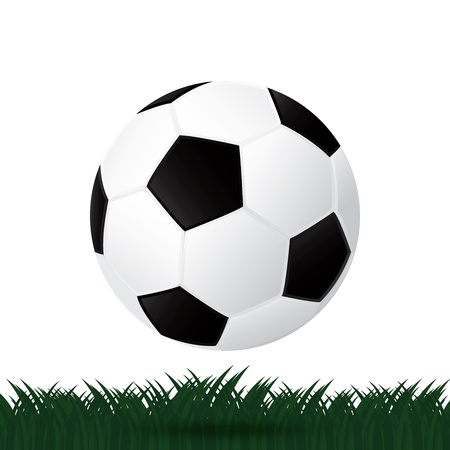 best soccer football illusion isolated background Stock Vector - 21759696
