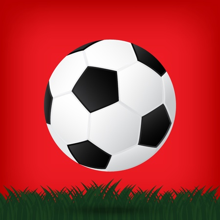 best soccer football illusion isolated background Stock Vector - 21759698