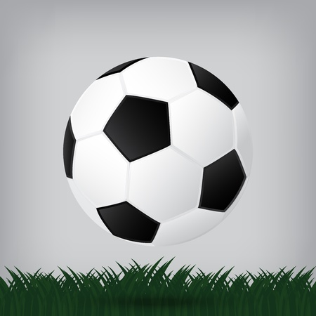 synthetic court: best soccer football illusion isolated background Illustration