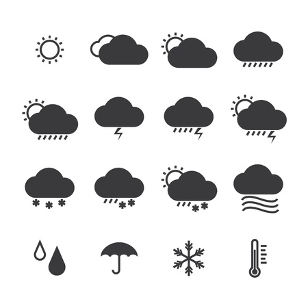 icon pack weather isolated background Vettoriali