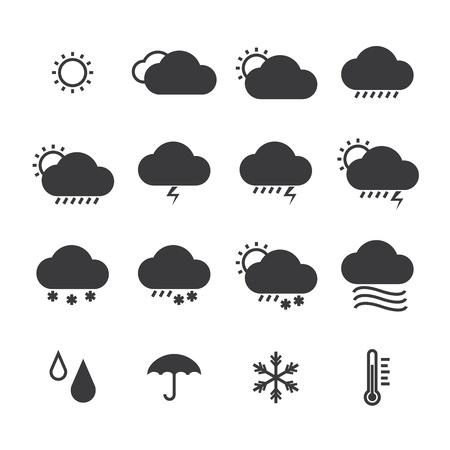 meteo: icon pack clima isolato sfondo