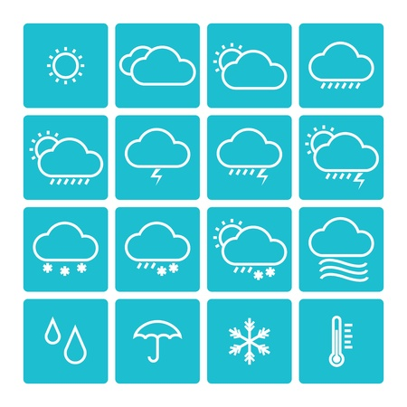 temperature:  icon pack weather isolated background Illustration