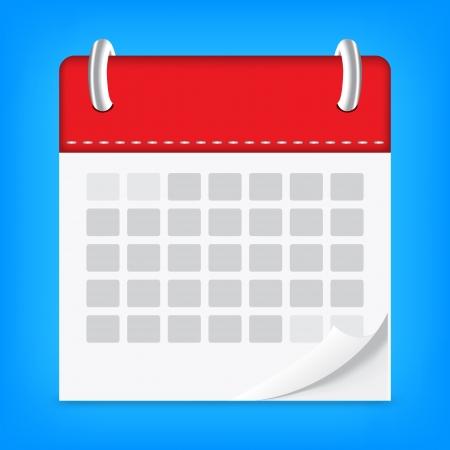 icon calendar isolated background Illusztráció