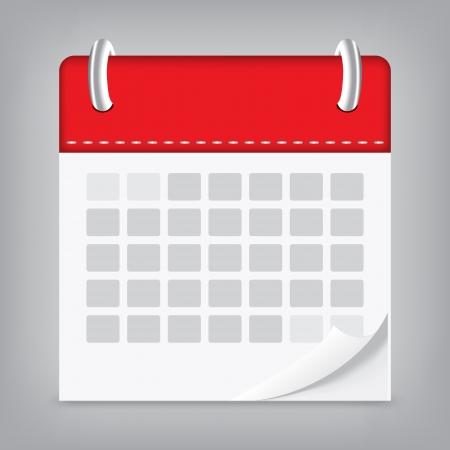 icon calendar isolated background Illustration