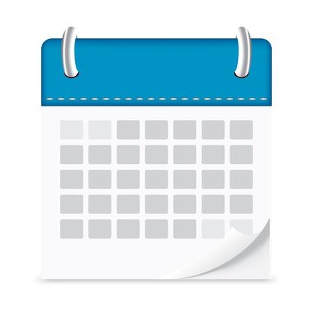 Icône du calendrier isolé fond Banque d'images - 21759720