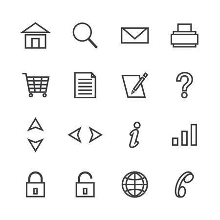 icon pack web and internet isolated