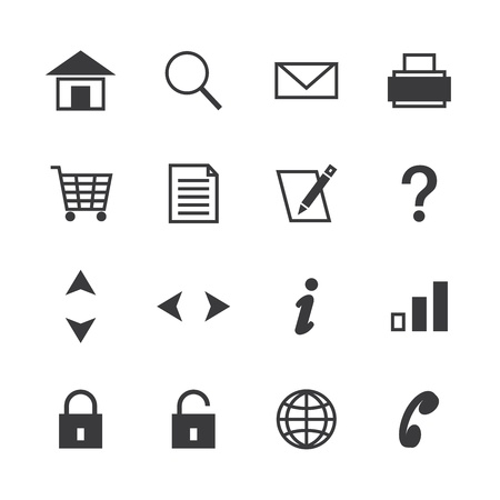 nota: icon pack web and internet isolated