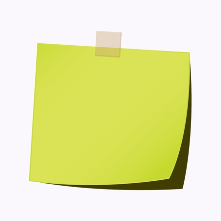 blank note tag: paper note light green color