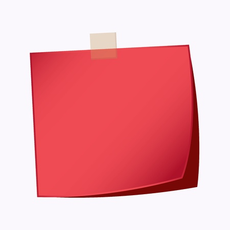 paper note red color Vector