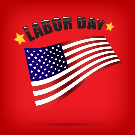labor day american vector Vector