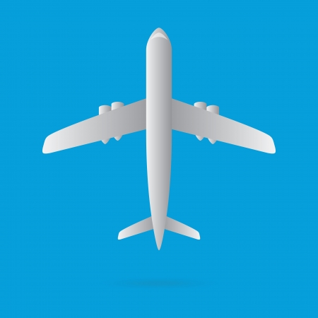 airplane flying model isolated vector Vector