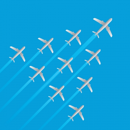 leader airplane jet flying arrow model isolated vector Vector