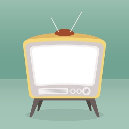 flat screen tv: vector vintage tv color isolated