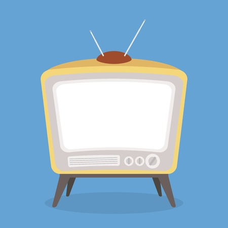 vector vintage tv brown color isolated Vector