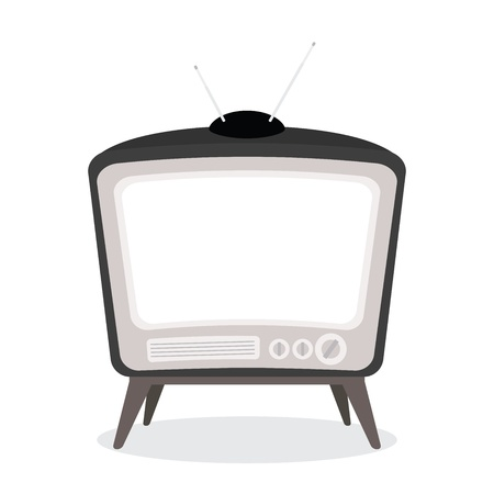 vector vintage tv black color isolated Stock Vector - 21759849