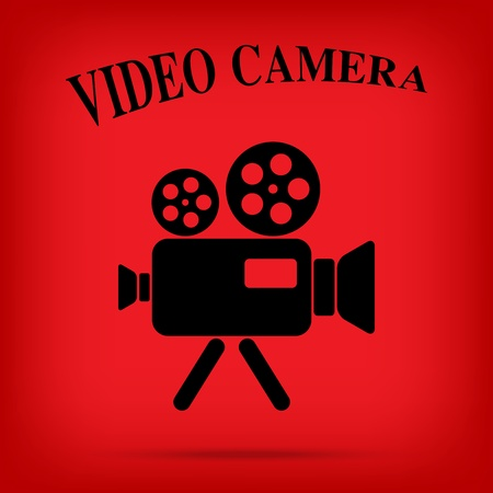 video movie camera vintage icon isolated background Vector