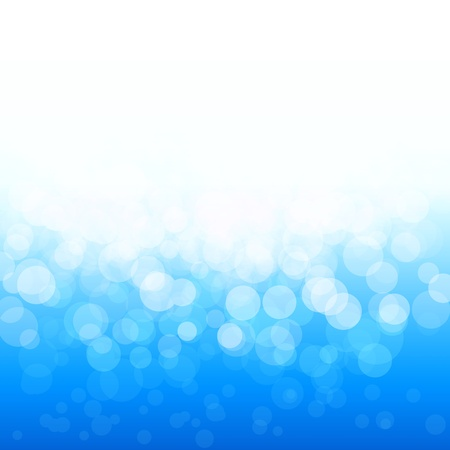 popular bokeh blue festive lights and stars Vector