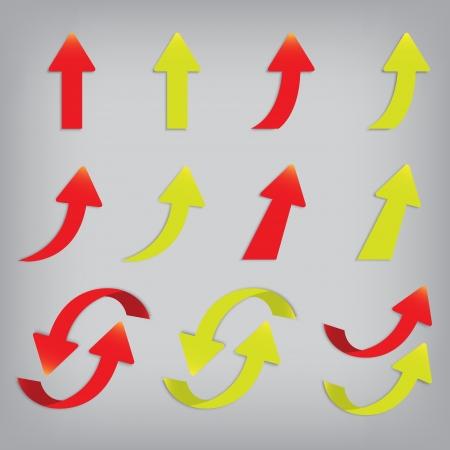 vector popular arrow sticker set pack isolated