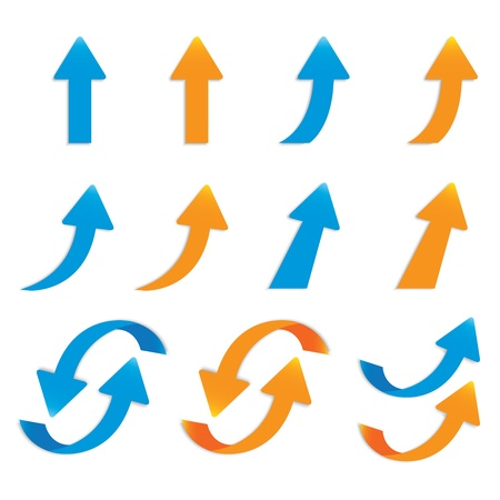 arrow right: vector popolare serie freccia adesivo pacchetto isolato