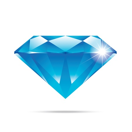 popular blue diamond isolated realistic high quality elements  Vector