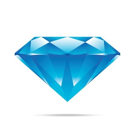populaire blauwe diamant geïsoleerd realistische hoogwaardige elementen