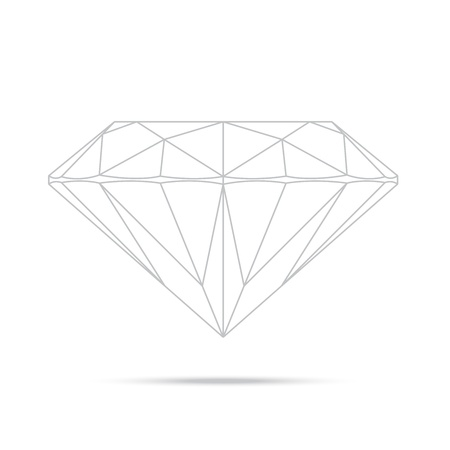 popular drawing line template diamond isolated realistic high quality elements