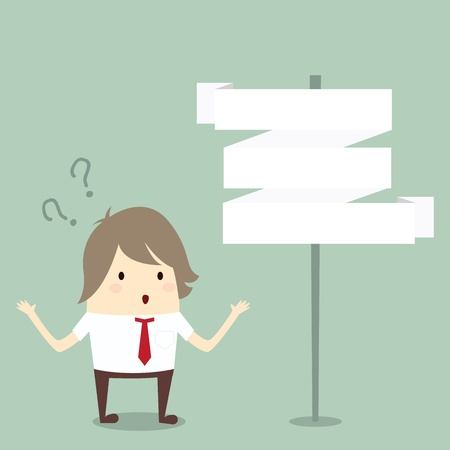 businessman confused to choose choice, business concept Stock Vector - 22067500
