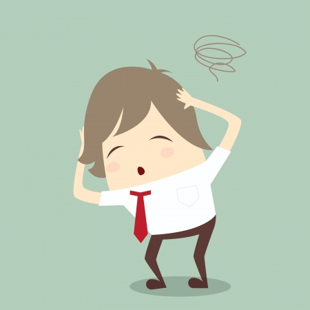 popular businessman serious stress concern confused hard work vector