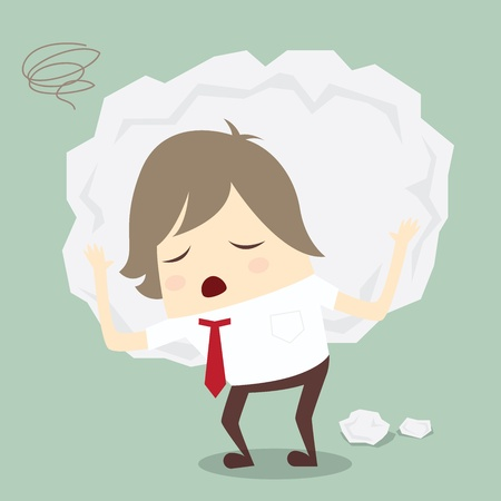 work popular: popular businessman serious stress concern confused hard work vector