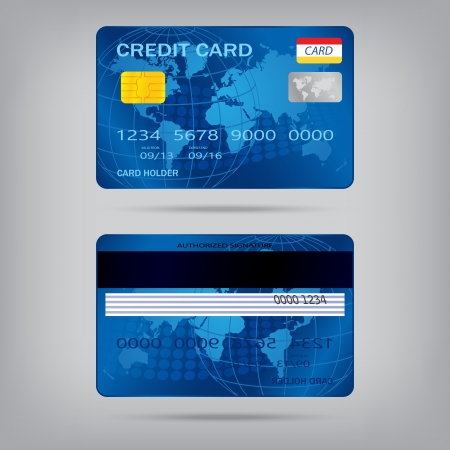 popular blue premium extended business credit card isolated Stock Vector - 22362593