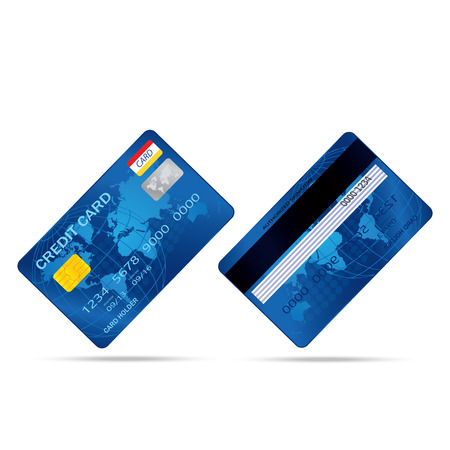 popular blue premium extended business credit card isolated Stock Vector - 22362596