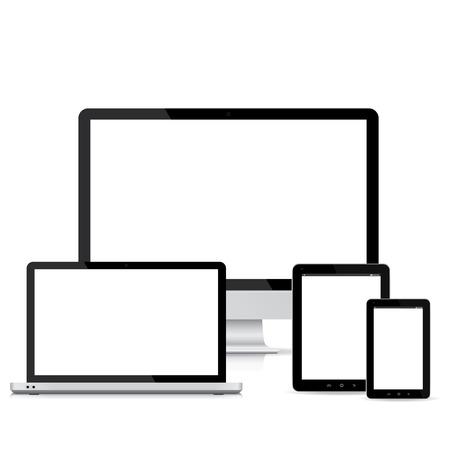 entwurf: beliebter vollen ansprechende Webdesign elektronischen Geräten
