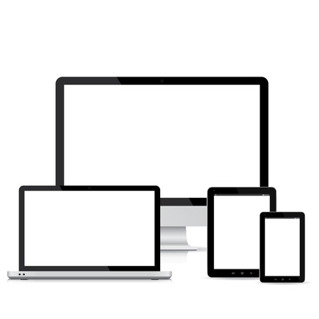 Populaire full responsieve web design elektronische apparaten Stockfoto - 22362654