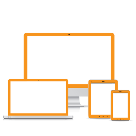 popular full responsive web design electronic devices  Stock Vector - 22359560