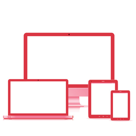 popular full responsive web design electronic devices  Stock Vector - 22359561