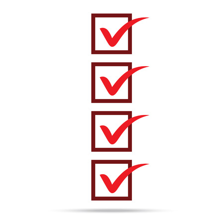popular check list symbol right mark isolated vector