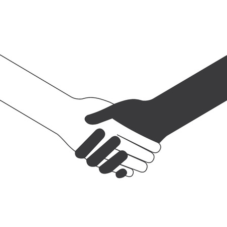 popular handshake connecting teamwork icon concept isolated vector Stock Vector - 22593450