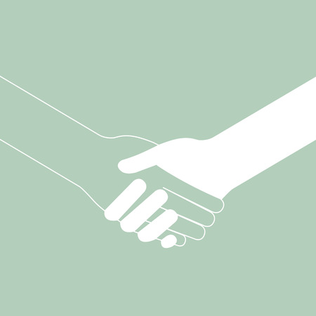 popular handshake connecting teamwork icon concept isolated vector Vector
