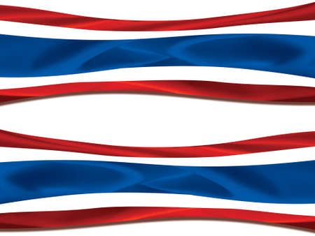 waft: beautiful flag of thailand stream waft in the wind on isolated background Stock Photo