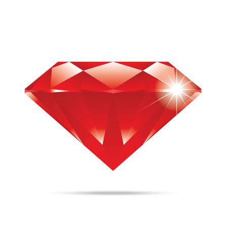 adamant: popular red diamond isolated realistic high quality elements vector Illustration