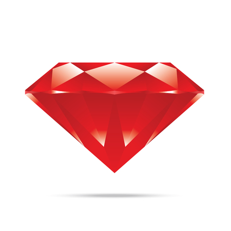 popular red diamond isolated realistic high quality elements vector Stock Vector - 23774540