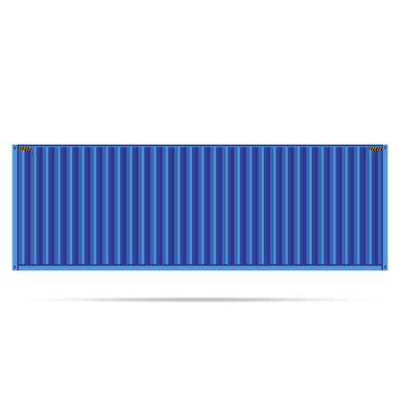 storage unit: vector popular cargo blue container shipping freight isolated texture pattern background