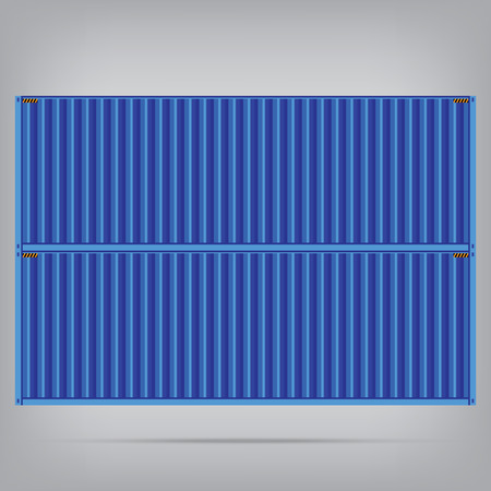 vector popular cargo blue container shipping freight isolated texture pattern background Vector